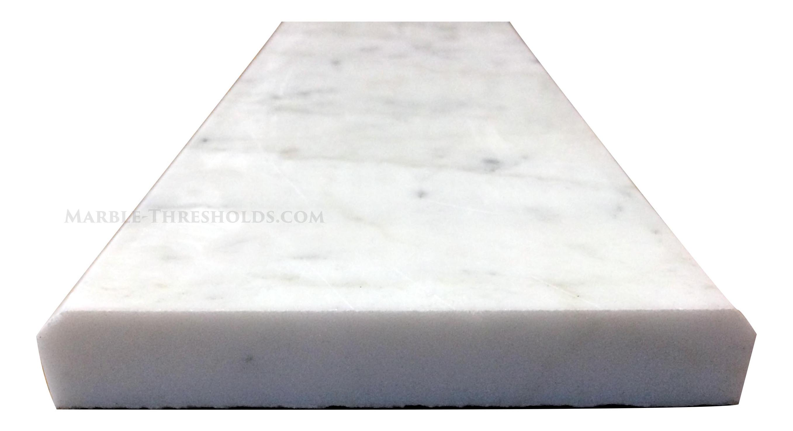 white carrara marble threshold u2013 size 48 x 6 x 34 inches - White Carrara Marble