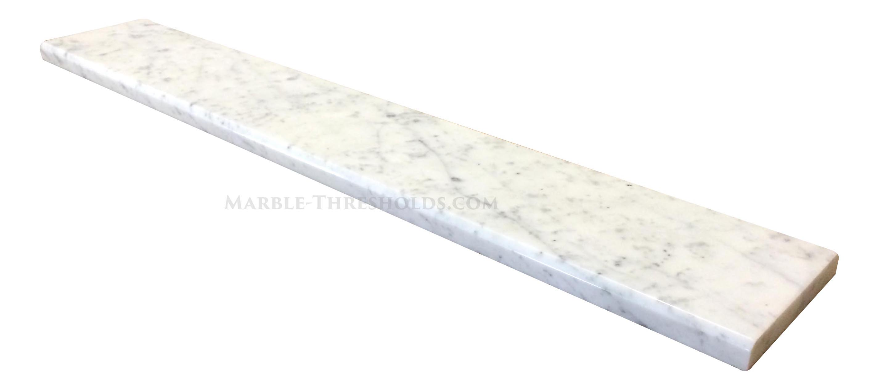 White Carrara Marble Saddle And Door Threshold U2013 30 X 4 Inches U2013 Polished