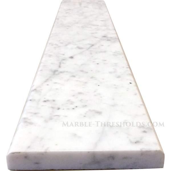 White Carrara Marble Saddle