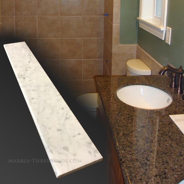 Marble thresholds for bathroom renovations marble for Marble threshold bathroom