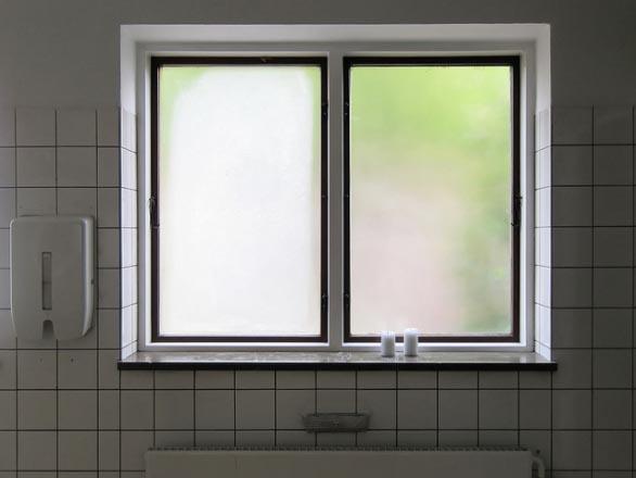 Bathroom window sill