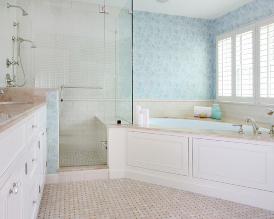 """Photo by <a href=""""https://www.houzz.com/photos/461812/Traditional-Master-Bathroom-traditional-bathroom-chicago"""" rel=""""nofollow"""">Normandy Remodeling on Houzz.com</a>."""