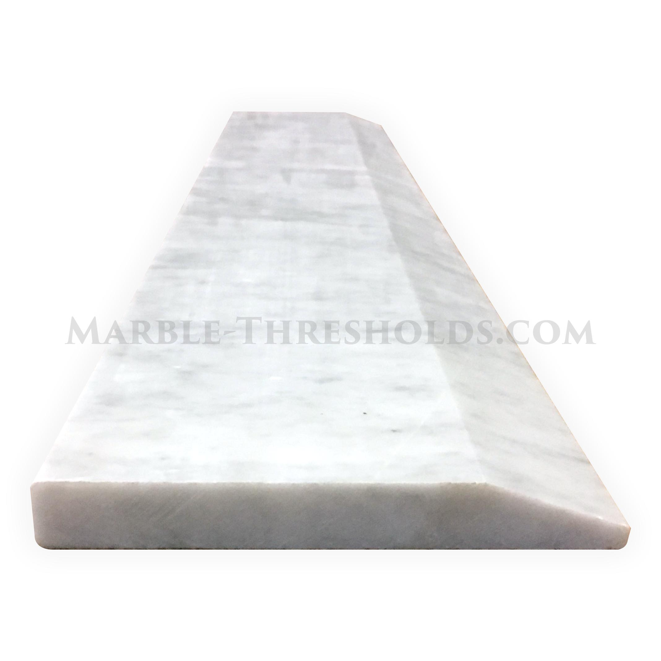 White Carrara Single Hollywood Threshold Saddle