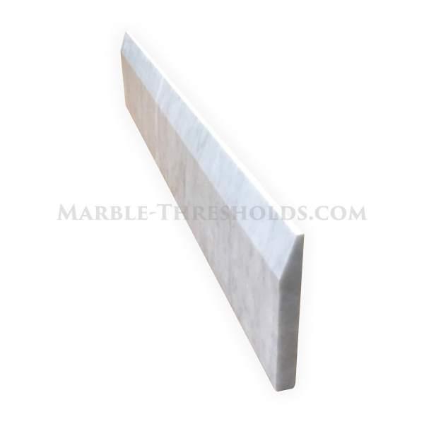 White Carrara Single Hollywood Threshold Saddle