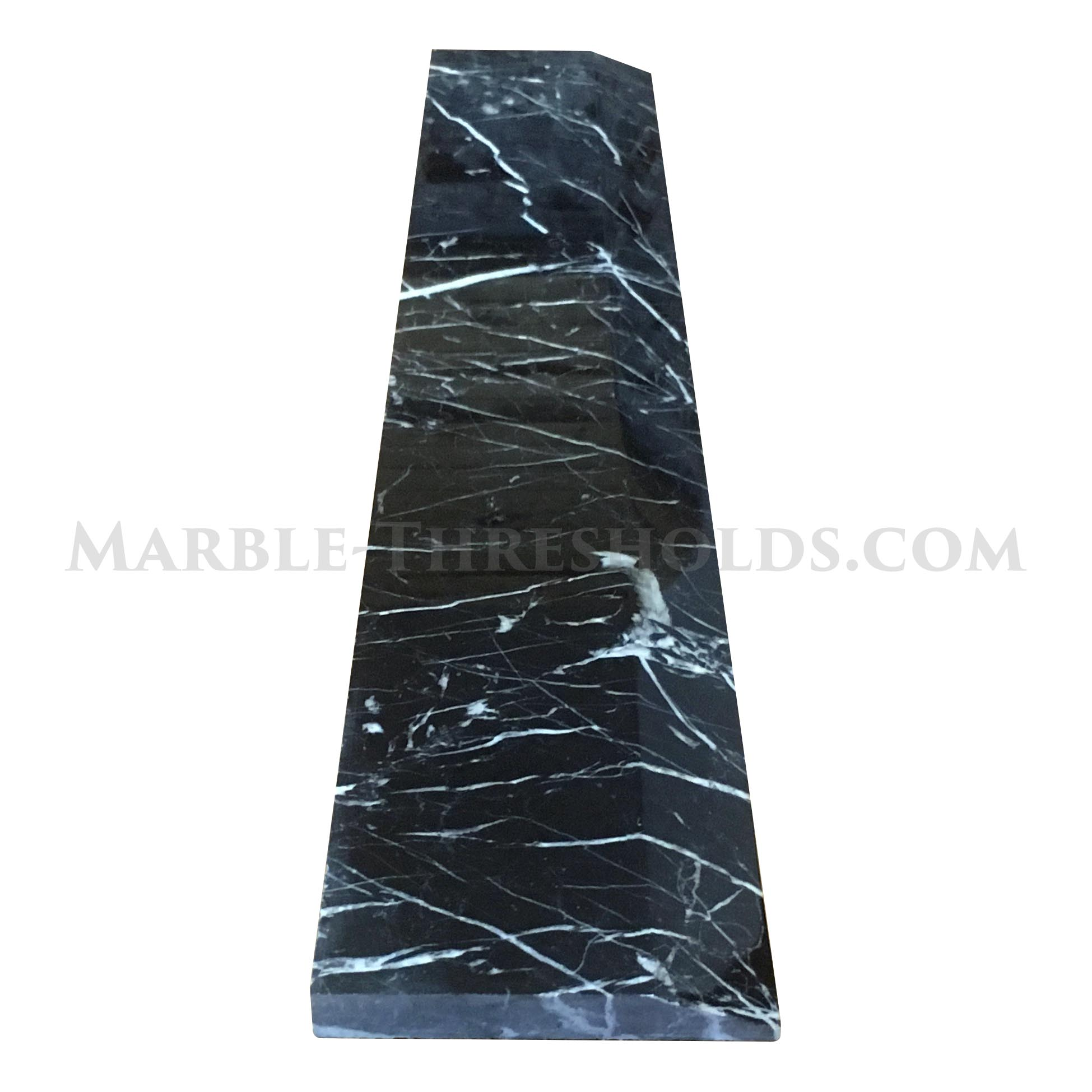 Nero Marquina Marble Door Threshold  sc 1 st  Marble-Thresholds.com & Single Hollywood Door Threshold - Nero Marquina Marble - 36 x 6 ...