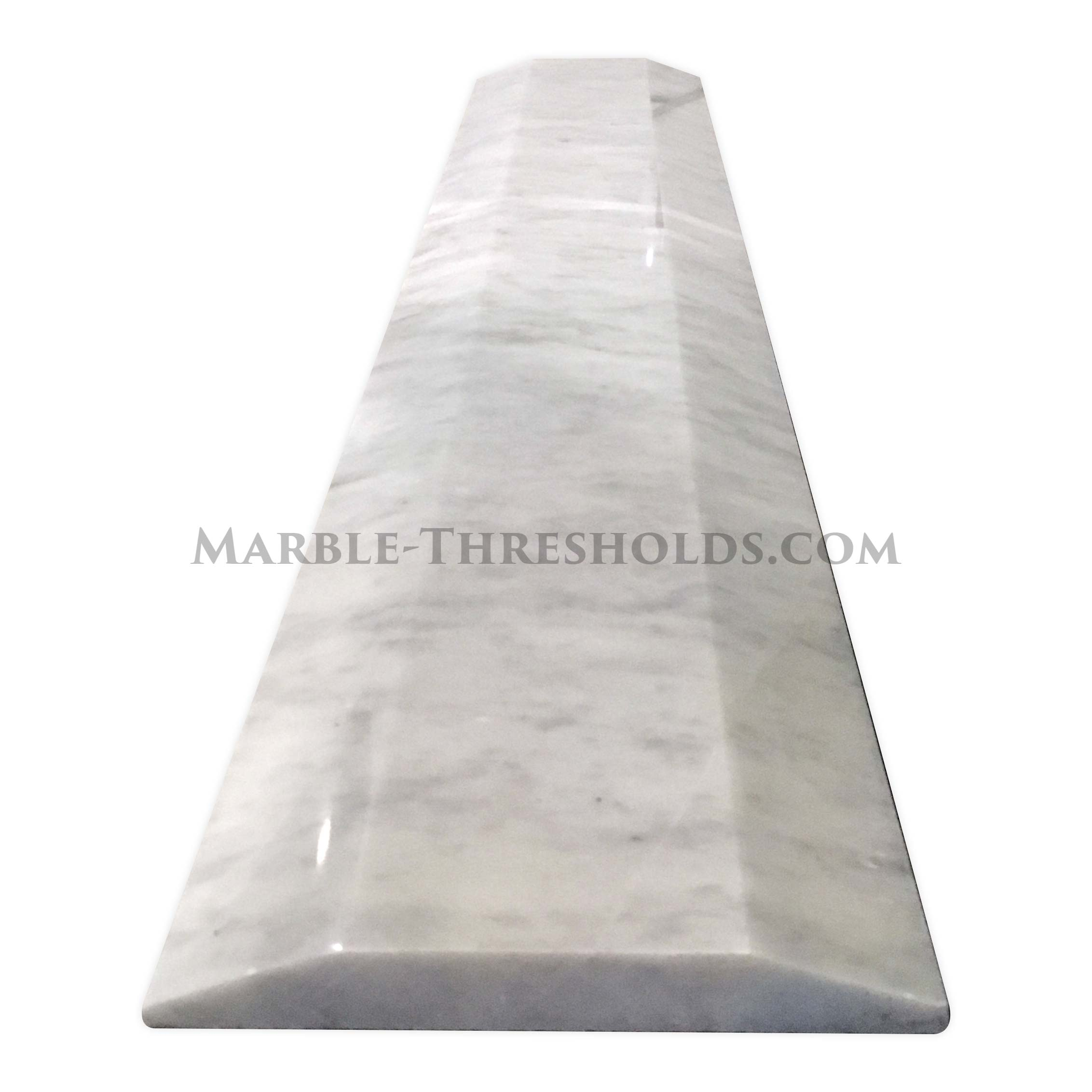 Matching Patterns Double Hollywood Marble Threshold White Carrara 30 X 5